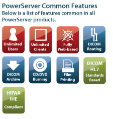 PowerServer PACS Features